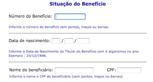 Consulta de benefício previdencia social