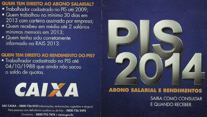 Abono Salarial - PIS 2014