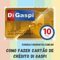 Di Gaspi cartão de crédito – Como fazer
